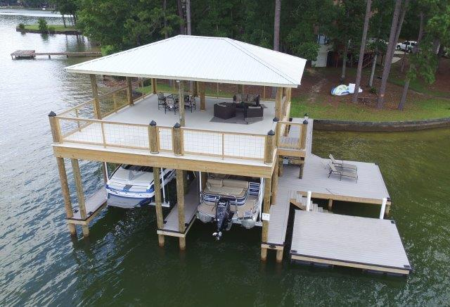 Lake Martin Dock 2 Story Boathouse 1