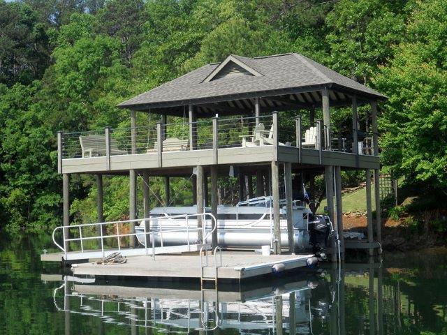 Lake Martin Dock 2 Story Boathouse 2