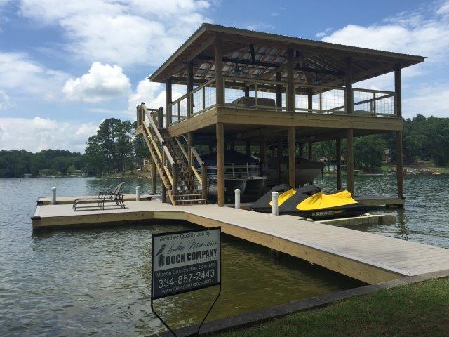 Lake Martin Dock 2 Story Boathouse 26