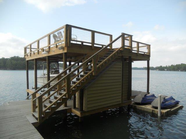 Lake Martin Dock 2 Story Boathouse 5