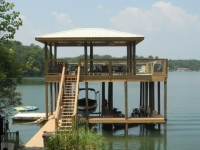 Lake Martin Dock 2 Story Boathouse 19