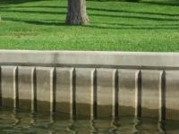Patterned Concrete Seawall