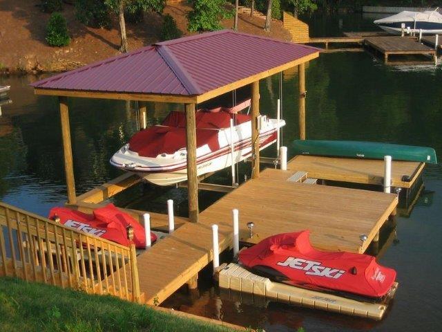 Lake Martin Dock Single Level Boathouse 1