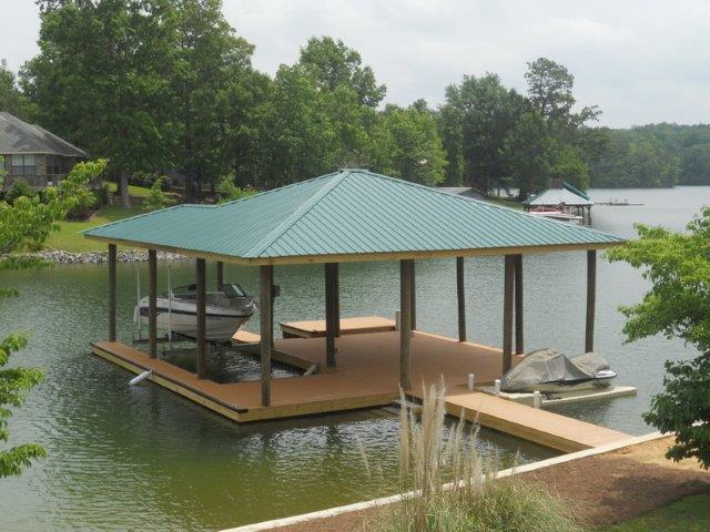 Lake Martin Dock Single Level Boathouse 18