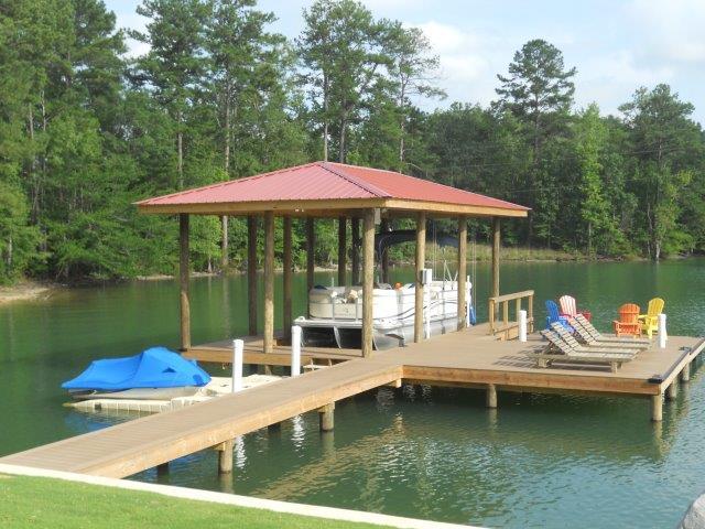 Lake Martin Dock Single Level Boathouse 24