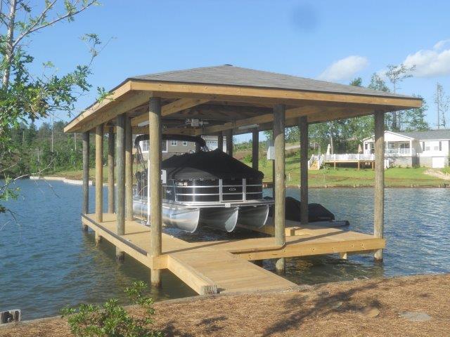 Lake Martin Dock Single Level Boathouse 33