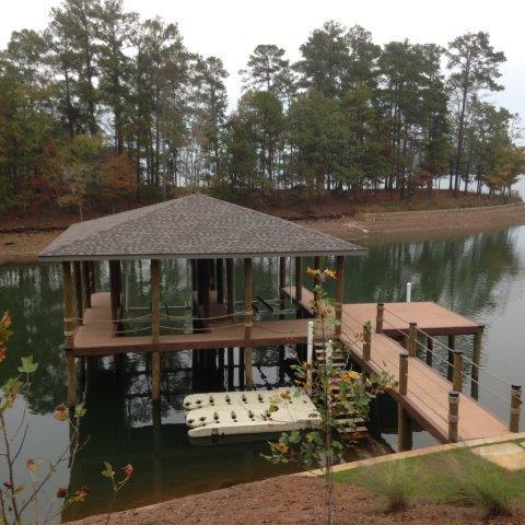 Lake Martin Dock Single Level Boathouse 34