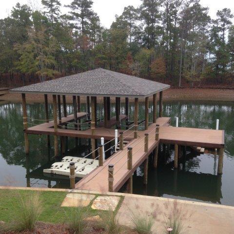 Lake Martin Dock Single Level Boathouse 35