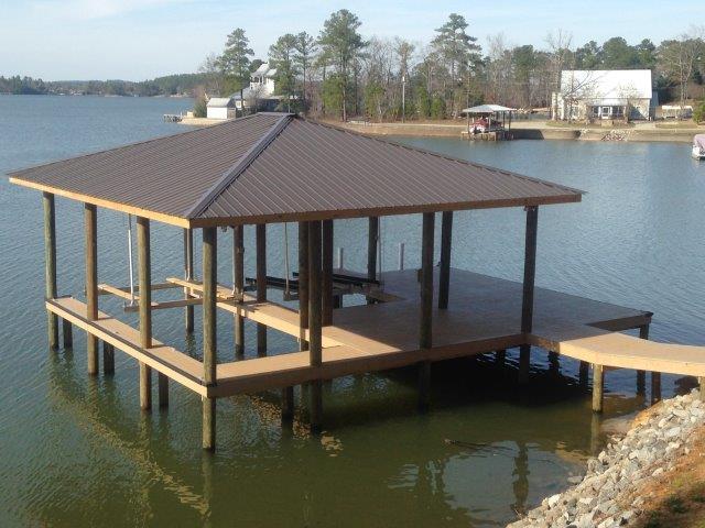 Lake Martin Dock Single Level Boathouse 36