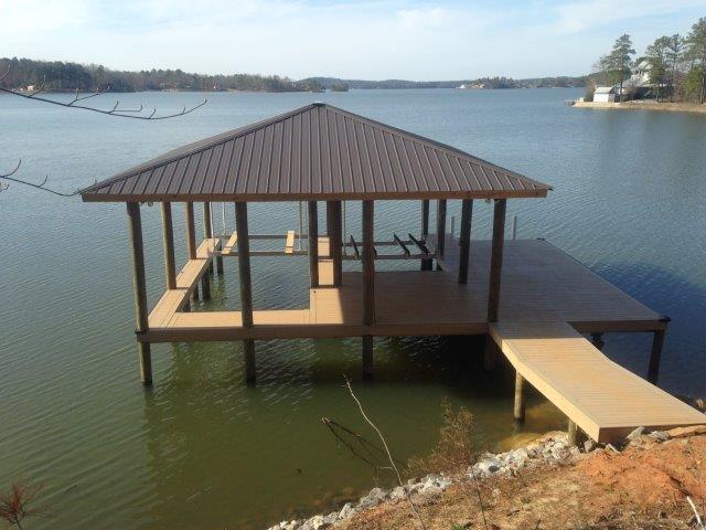 Lake Martin Dock Single Level Boathouse 37