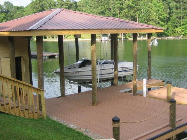 Lake Martin Dock Single Level Boathouse 5