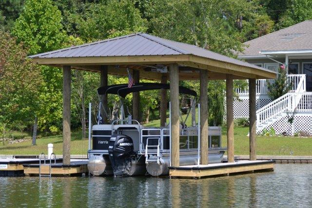Lake Martin Dock Single Level Boathouse 7