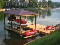 Lake Martin Dock Single Level Boathouse 2