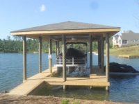 Lake Martin Dock Single Level Boathouse 32