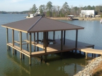 Lake Martin Dock Single Level Boathouse 36