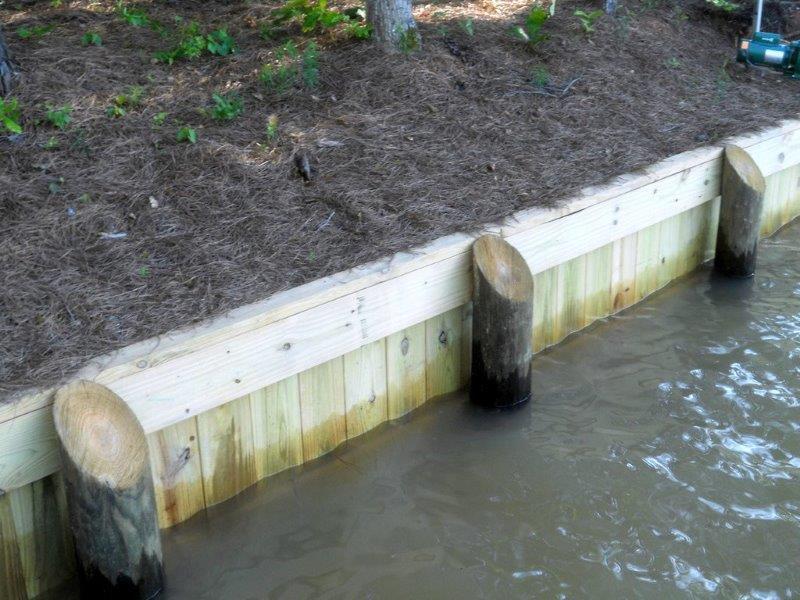 Wood Seawalls Lake Martin Dock Company